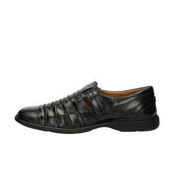 Josef Seibel pánské kožené sandály - černé