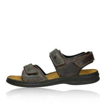 Josef Seibel pánské kožené sandály - tmavohnědé