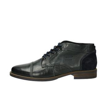 Klondike pánská kožená kotníková obuv - tmavomodrá
