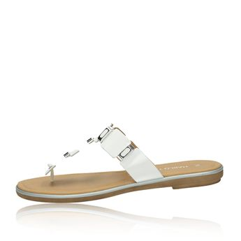 Marco Tozzi dámské stylové nazouváky - bílé