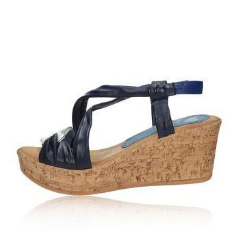 Marila dámské kožené sandály - modré