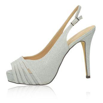 Menbur dámské společenské sandály - stříbrné