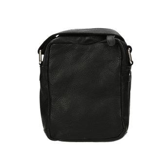 Mercucio pánská kožená crossbody taška - černá