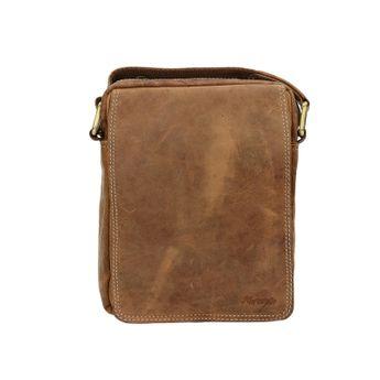Mercucio pánská kožená taška - koňaková