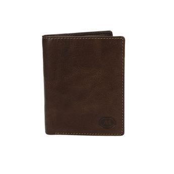 Metropoli pánská kožená peněženka - tmavohnědá