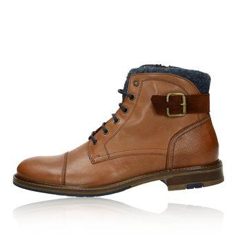 Robel pánská kožená kotníková obuv - hnědá