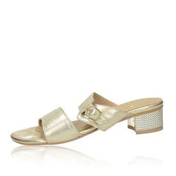 Olivia shoes dámské elegantní nazouváky s řemínkem - zlaté