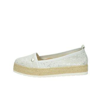 Olivia shoes dámské espadrilky na platformě - stříbrné