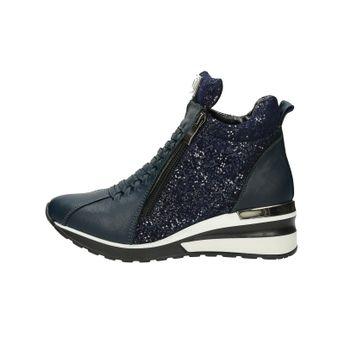 Olivia shoes dámské kožené stylové kotníkové boty - modré