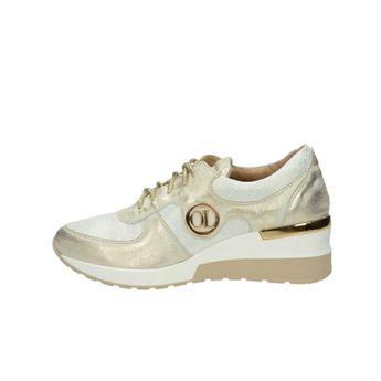 Olivia shoes dámské kožené tenisky na klinové podrážce - zlaté 8a4242e04f