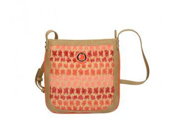 Pabia dámská kabelka - červeno béžová