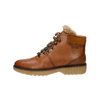 Pikolinos dámské kožené kotníkové boty - koňakové
