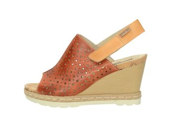Pikolinos dámské kožené sandály - koňakové