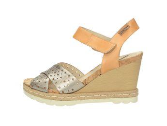 Pikolinos dámské sandály na klínové podešvi - vícebarevná