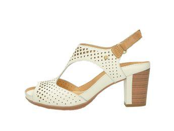 Pikolinos dámské sandály na podpatku - bílé