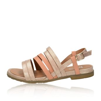 Regarde le ciel dámské kožené sandály - růžové