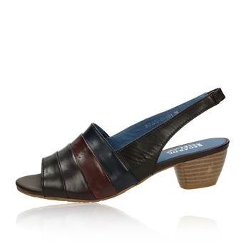 Regarde le ciel dámské kožené sandály - vícebarevné