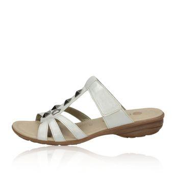 Remonte dámské pantofle/nazouváky - stříbrné