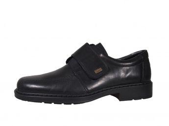 Rieker pánské boty na suchý zip - černé