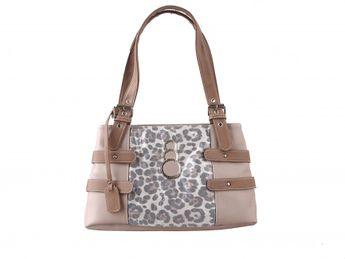 Rieker dámská kabelka s leopardím vzorem - béžová