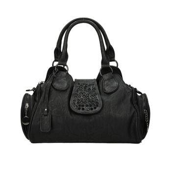 Rieker dámská kabelka s ozdobnými kamínky - černá