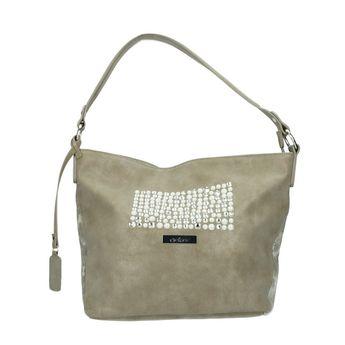Rieker dámská praktická kabelka s ozdobnými kamínky - béžová