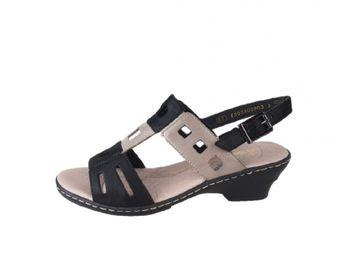 Rieker dámské kožené sandály - vícebarevné