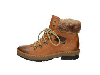Rieker dámské kotníkové boty - hnědé