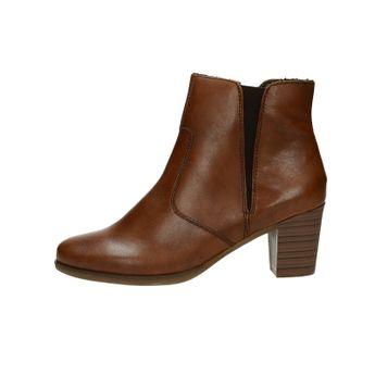Rieker dámské kožené kotníkové boty - koňakové