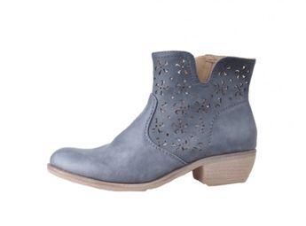 Rieker dámské kotníkové boty - modro šedé