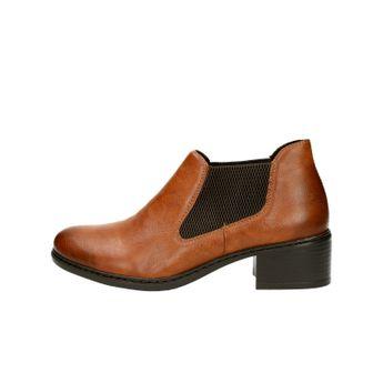 Rieker dámské pohodlné kotníkové boty - koňakové