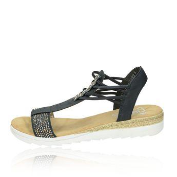 Rieker dámské pohodlné sandály - modré