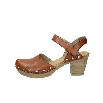 Rieker dámské sandály na suchý zip - hnědé