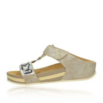Rieker dámské pantofle/nazouváky - zlaté