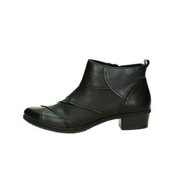 Rieker dámské stylové kotníkové boty - černé