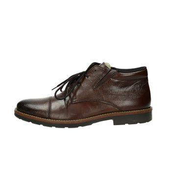 Rieker pánská kožená kotníková obuv - tmavohnědá