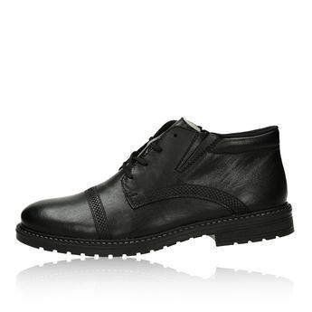 Rieker pánská kožená zateplená kotníková obuv - černá