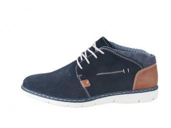 Rieker pánské kotníkové boty - modrohnědé