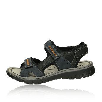 Rieker pánské sandály na suchý zip - modré