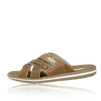 Rieker pánské pantofle nazouváky - hnědé 391a57087b