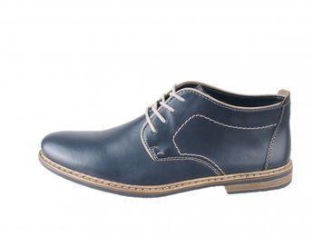Rieker pánské kožené kotníkové boty - tmavomodré