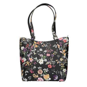 Robel dámská kabelka s květinovým vzorem - černá