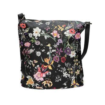 Robel dámská stylová kabelka s květinovým vzorem - černá