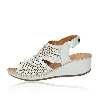 296648e2a920 Robel dámské perforované sandály na suchý zip - bílé