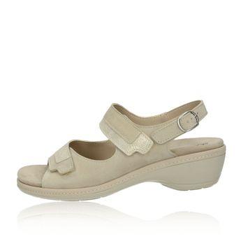 Robel dámské pohodlné sandály na suchý zip - béžové
