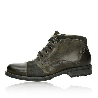 c5e12459486 Robel pánské modní kotníkové boty - tmavošedé