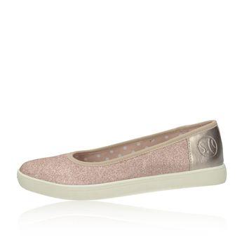 S.Oliver dámské stylové třpytivé balerínky - růžové