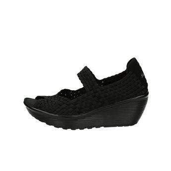 Skechers dámské pohodlné sandály na klinové podrážce - černé