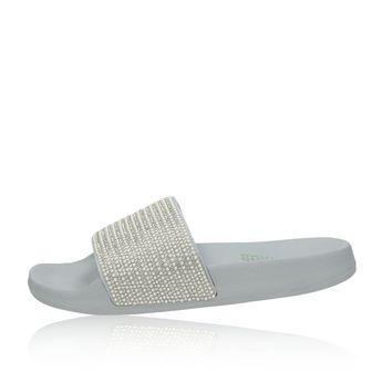 Skechers dámské nazouváky s ozdobnými kamínky - šedé