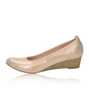 Tamaris dámské balerínky na klinové podrážce - růžové